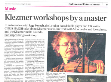 klezmer fiddle workshop